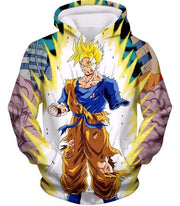OtakuForm-OP Sweatshirt Hoodie / XXS Dragon Ball Super One Handed Goku Super Saiyan Action Graphic Sweatshirt