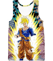 OtakuForm-OP Sweatshirt Tank Top / XXS Dragon Ball Super One Handed Goku Super Saiyan Action Graphic Sweatshirt