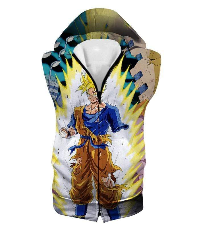 OtakuForm-OP T-Shirt Hooded Tank Top / XXS Dragon Ball Super One Handed Goku Super Saiyan Action Graphic T-Shirt
