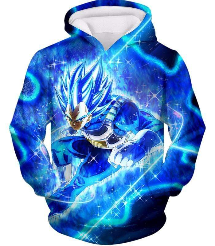 OtakuForm-OP Hoodie Hoodie / XXS Dragon Ball Super Prince Vegeta Super Saiyan Blue Ultimate Anime Graphic Action Hoodie - DBZ Hoodie