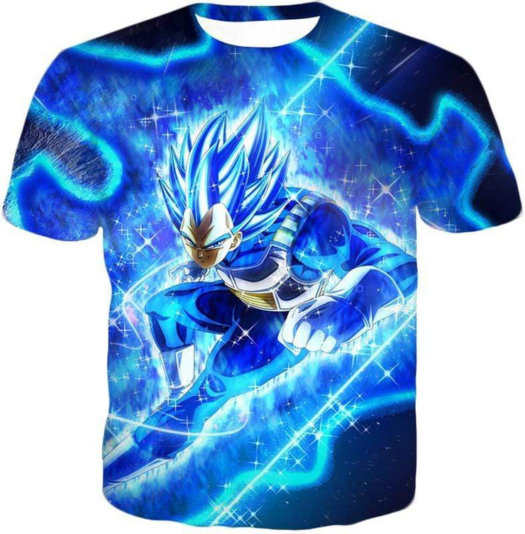 OtakuForm-OP Hoodie T-Shirt / XXS Dragon Ball Super Prince Vegeta Super Saiyan Blue Ultimate Anime Graphic Action Hoodie - DBZ Hoodie