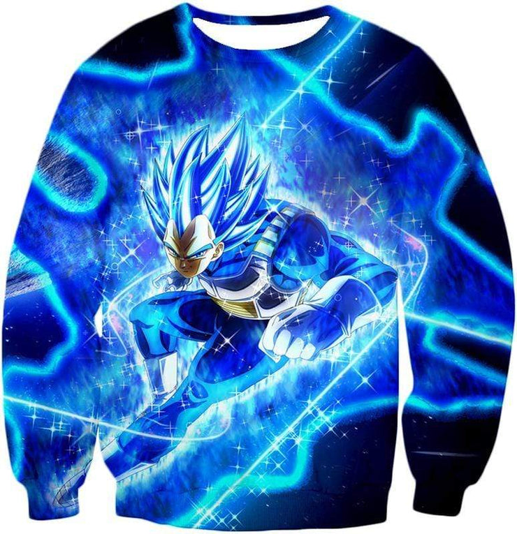 OtakuForm-OP Hoodie Sweatshirt / XXS Dragon Ball Super Prince Vegeta Super Saiyan Blue Ultimate Anime Graphic Action Hoodie - DBZ Hoodie