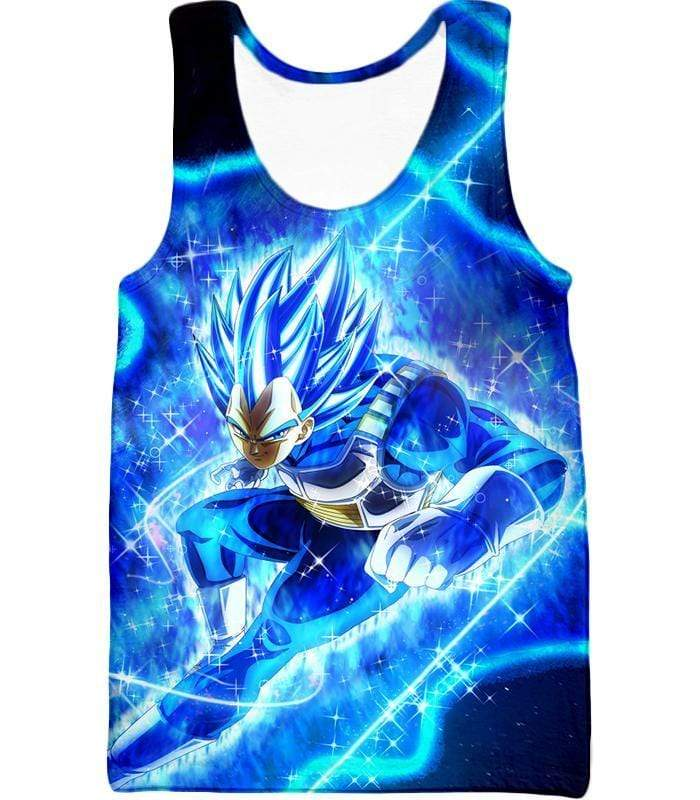 OtakuForm-OP Zip Up Hoodie Tank Top / XXS Dragon Ball Super Prince Vegeta Super Saiyan Blue Ultimate Anime Graphic Action Zip Up Hoodie - DBZ Hoodie