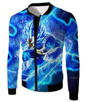 OtakuForm-OP Zip Up Hoodie Jacket / XXS Dragon Ball Super Prince Vegeta Super Saiyan Blue Ultimate Anime Graphic Action Zip Up Hoodie - DBZ Hoodie