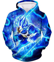 OtakuForm-OP Zip Up Hoodie Hoodie / XXS Dragon Ball Super Prince Vegeta Super Saiyan Blue Ultimate Anime Graphic Action Zip Up Hoodie - DBZ Hoodie