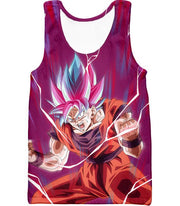 OtakuForm-OP Hoodie Tank Top / XXS Dragon Ball Super Rising Power Goku Super Saiyan Blue kaio-ken Hoodie