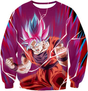 OtakuForm-OP Hoodie Sweatshirt / XXS Dragon Ball Super Rising Power Goku Super Saiyan Blue kaio-ken Hoodie
