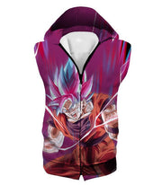 OtakuForm-OP Hoodie Hooded Tank Top / XXS Dragon Ball Super Rising Power Goku Super Saiyan Blue kaio-ken Hoodie