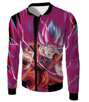 OtakuForm-OP Hoodie Jacket / XXS Dragon Ball Super Rising Power Goku Super Saiyan Blue kaio-ken Hoodie