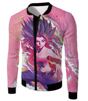 OtakuForm-OP Sweatshirt Jacket / XXS Dragon Ball Super Saiyan Caulifla Cool Action Pink Sweatshirt - Dragon Ball Sweater
