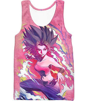 OtakuForm-OP T-Shirt Tank Top / XXS Dragon Ball Super Saiyan Caulifla Cool Action Pink T-Shirt - Dragon Ball T-Shirt