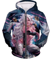 OtakuForm-OP Zip Up Hoodie Zip Up Hoodie / XXS Dragon Ball Super Sexy Evil Android 21 Intelligent Creation Cool Black Zip Up Hoodie - DBZ Clothing Hoodie