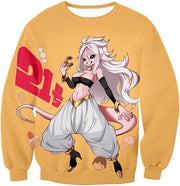 OtakuForm-OP Sweatshirt Sweatshirt / XXS Dragon Ball Super Super Cute Evil Android 21 Awesome Anime Sweatshirt - DBZ Clothing Sweater