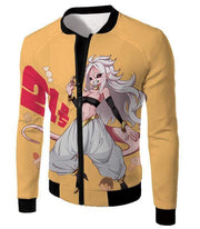 OtakuForm-OP Sweatshirt Jacket / XXS Dragon Ball Super Super Cute Evil Android 21 Awesome Anime Sweatshirt - DBZ Clothing Sweater
