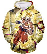 OtakuForm-OP Hoodie Hoodie / XXS Dragon Ball Super Super Saiyan 2 Goku Power Action Cool Graphic Hoodie - DBZ Clothing Hoodie