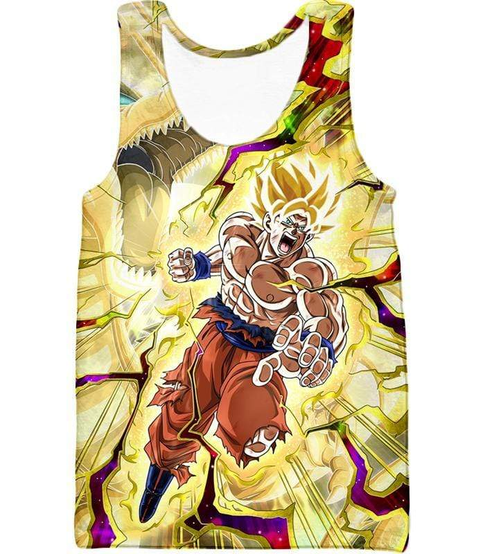 OtakuForm-OP Hoodie Tank Top / XXS Dragon Ball Super Super Saiyan 2 Goku Power Action Cool Graphic Hoodie - DBZ Clothing Hoodie