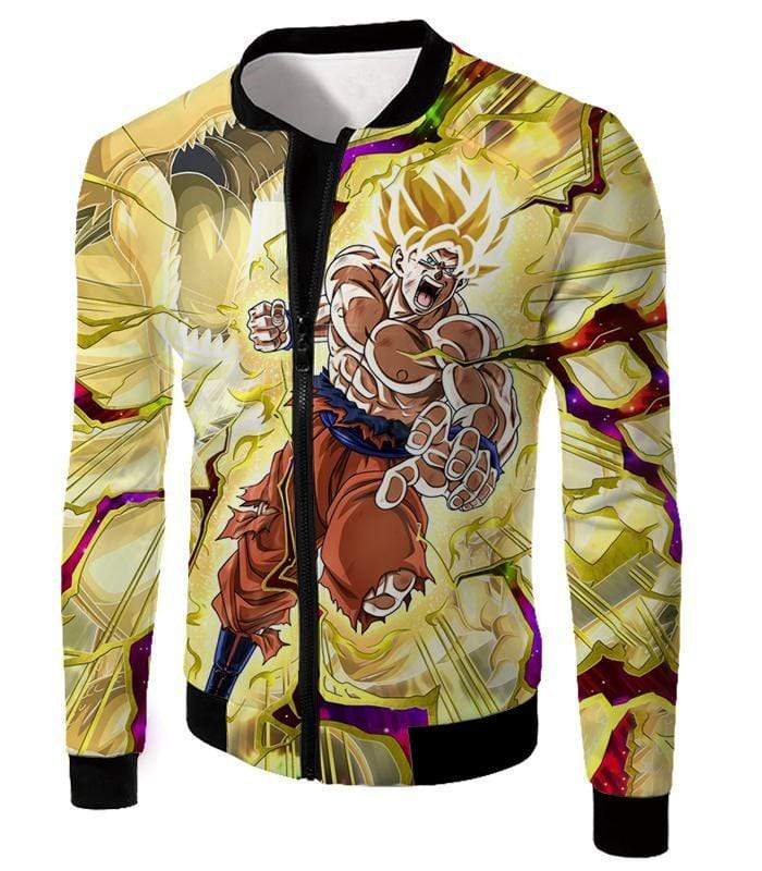 OtakuForm-OP Hoodie Jacket / XXS Dragon Ball Super Super Saiyan 2 Goku Power Action Cool Graphic Hoodie - DBZ Clothing Hoodie