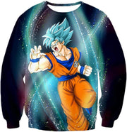 OtakuForm-OP Sweatshirt Sweatshirt / XXS Dragon Ball Super Super Saiyan Blue Goku Action Graphic Sweatshirt - DBZ Sweater