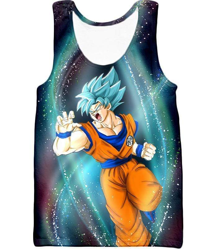 OtakuForm-OP Sweatshirt Tank Top / XXS Dragon Ball Super Super Saiyan Blue Goku Action Graphic Sweatshirt - DBZ Sweater