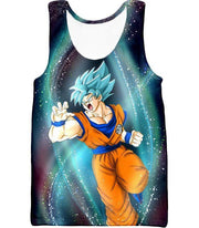 OtakuForm-OP Zip Up Hoodie Tank Top / XXS Dragon Ball Super Super Saiyan Blue Goku Action Graphic Zip Up Hoodie - DBZ Hoodie