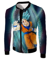 OtakuForm-OP Zip Up Hoodie Jacket / XXS Dragon Ball Super Super Saiyan Blue Goku Action Graphic Zip Up Hoodie - DBZ Hoodie