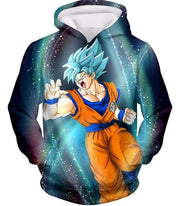 OtakuForm-OP Zip Up Hoodie Hoodie / XXS Dragon Ball Super Super Saiyan Blue Goku Action Graphic Zip Up Hoodie - DBZ Hoodie