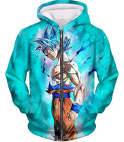 OtakuForm-OP Zip Up Hoodie Zip Up Hoodie / XXS Dragon Ball Super Super Saiyan Blue Goku Cool Blue Zip Up Hoodie