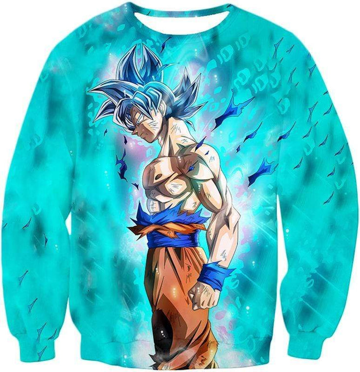 OtakuForm-OP Zip Up Hoodie Sweatshirt / XXS Dragon Ball Super Super Saiyan Blue Goku Cool Blue Zip Up Hoodie