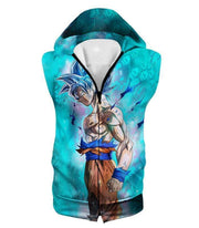 OtakuForm-OP Zip Up Hoodie Hooded Tank Top / XXS Dragon Ball Super Super Saiyan Blue Goku Cool Blue Zip Up Hoodie
