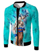 OtakuForm-OP Zip Up Hoodie Jacket / XXS Dragon Ball Super Super Saiyan Blue Goku Cool Blue Zip Up Hoodie