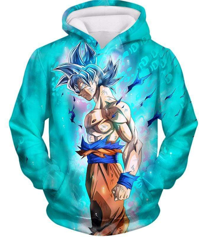 OtakuForm-OP Zip Up Hoodie Hoodie / XXS Dragon Ball Super Super Saiyan Blue Goku Cool Blue Zip Up Hoodie