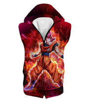 OtakuForm-OP Sweatshirt Hooded Tank Top / XXS Dragon Ball Super Super Saiyan God Goku Power Rising Cool Sweatshirt - Dragon Ball Z Sweater