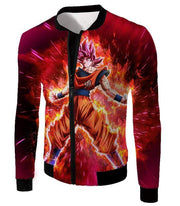 OtakuForm-OP Sweatshirt Jacket / XXS Dragon Ball Super Super Saiyan God Goku Power Rising Cool Sweatshirt - Dragon Ball Z Sweater
