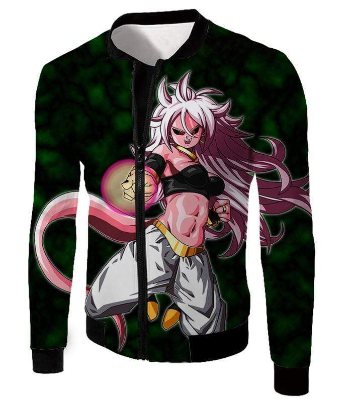 OtakuForm-OP Hoodie Jacket / XXS Dragon Ball Super Ultimate Fighter Android 21 Evil Form Action Hoodie - DBZ Hoodie