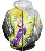 OtakuForm-OP Zip Up Hoodie Zip Up Hoodie / XXS Dragon Ball Super Universe 6 Super Saiyan Caulifla Cool Action Zip Up Hoodie