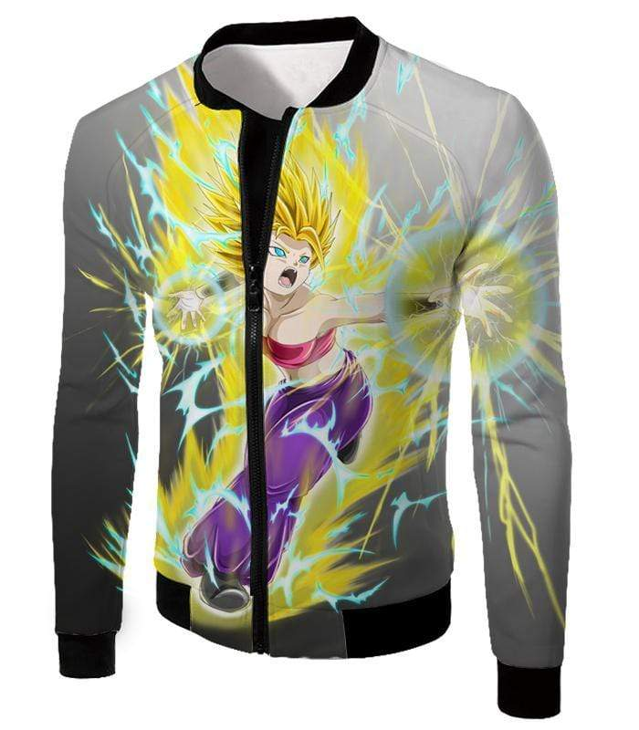 OtakuForm-OP Zip Up Hoodie Jacket / XXS Dragon Ball Super Universe 6 Super Saiyan Caulifla Cool Action Zip Up Hoodie