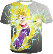 OtakuForm-OP Zip Up Hoodie T-Shirt / XXS Dragon Ball Super Universe 6 Super Saiyan Caulifla Cool Action Zip Up Hoodie
