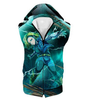 OtakuForm-OP Zip Up Hoodie Hooded Tank Top / XXS Dragon Ball Super Very Cool Action Hero Android 18 Awesome Graphic Zip Up Hoodie - Dragon Ball Super Hoodie