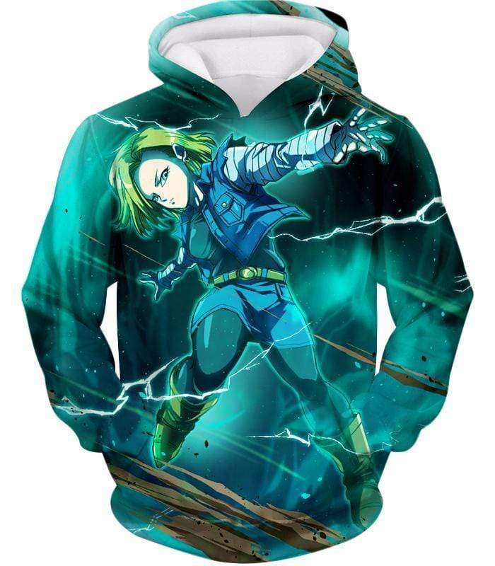 OtakuForm-OP Zip Up Hoodie Hoodie / XXS Dragon Ball Super Very Cool Action Hero Android 18 Awesome Graphic Zip Up Hoodie - Dragon Ball Super Hoodie