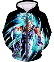 OtakuForm-OP T-Shirt Zip Up Hoodie / XXS Dragon Ball Super Warrior Vegito Super Saiyan Blue Godly Mode Cool Black T-Shirt