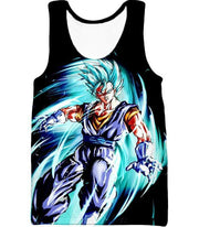 OtakuForm-OP T-Shirt Tank Top / XXS Dragon Ball Super Warrior Vegito Super Saiyan Blue Godly Mode Cool Black T-Shirt
