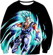 OtakuForm-OP T-Shirt Sweatshirt / XXS Dragon Ball Super Warrior Vegito Super Saiyan Blue Godly Mode Cool Black T-Shirt