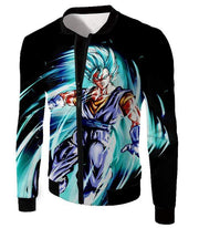 OtakuForm-OP T-Shirt Jacket / XXS Dragon Ball Super Warrior Vegito Super Saiyan Blue Godly Mode Cool Black T-Shirt