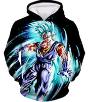 OtakuForm-OP T-Shirt Hoodie / XXS Dragon Ball Super Warrior Vegito Super Saiyan Blue Godly Mode Cool Black T-Shirt