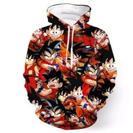 Anime Merchandise M / Black Dragon Ball Z Hoodie - Crazy Kid Goku Pullover Hoodie