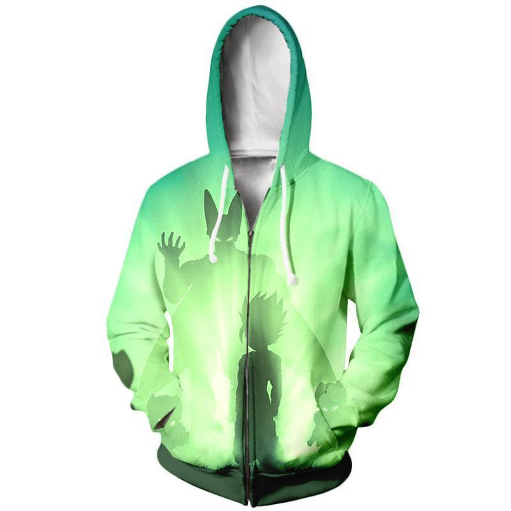 Dragon Ball Zip Up Hoodie XXS / Zip Up Hoodie Dragon Ball Z Hoodie - Gohan SSJ2 Vs Perfect Cell  Zip Up Hoodie Jacket