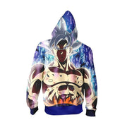 Dragon Ball Zip Up Hoodie XXS / Zip Up Hoodie Dragon Ball Z Hoodie - Ultra Instinct Goku Vibrant Zip Up Hoodie Jacket