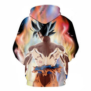 Anime Merchandise Hoodie M Dragon Ball Z Hoodie - Ultra Instinct Goku with His Back Turned Pullover Hoodie