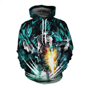 Dragon Ball Hoodie XXS Dragon Ball Z Hoodies - DBZ Goku and Vegeta 3D Hoodie