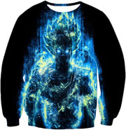 OtakuForm-OP Sweatshirt Sweatshirt / XXS Dragon Ball Z Sweatshirt - Super Saiyan Goku Blue Flash Sweatshirt
